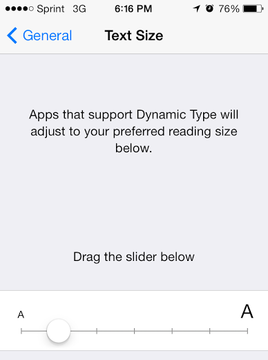 iOS 7 Dynamic type text