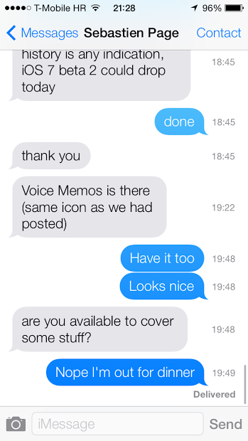 iOS 7 iMessage timestamps
