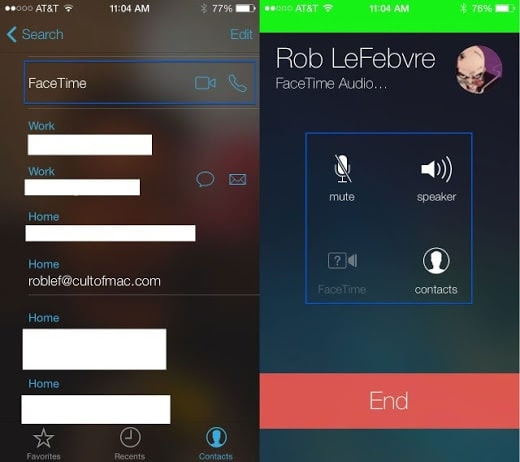Facetime audio ios 7