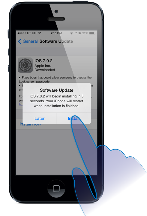 iOS 7.0.2 Download Software Update