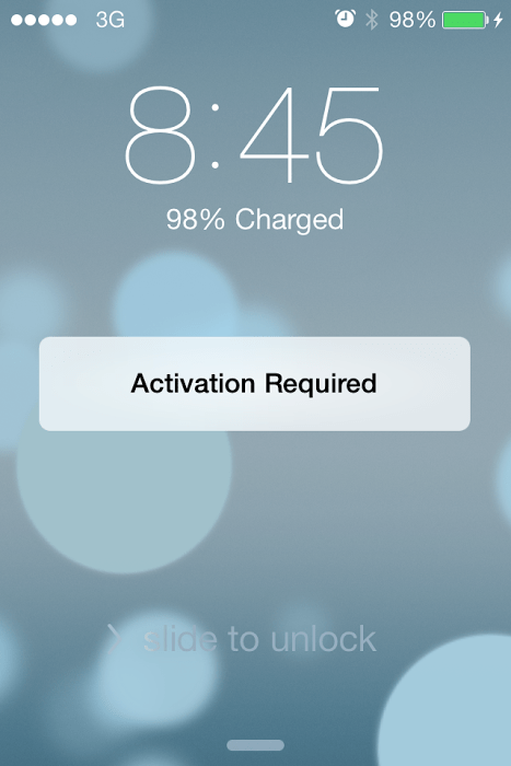 bypass Activation screen on iphone