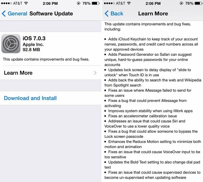 iOS 7.0.3 Download Links