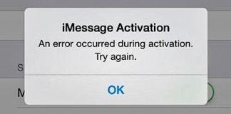 fix imessage activation error