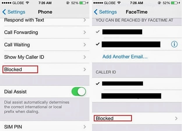 Block Calls iOS 7 iPhone
