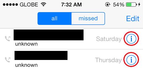 Block Caller IOS 7