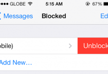 Unblock Person iOS