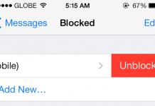 Unblock Person iOS