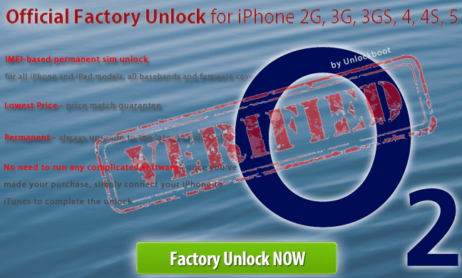 Unlock O2 UK iPhone 8