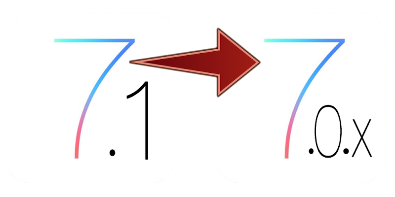 Downgrade IOS 7.1 to IOS 7