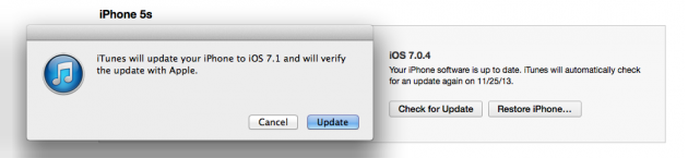 iTunes IOS 7.1 Downgrade to 7.0.4