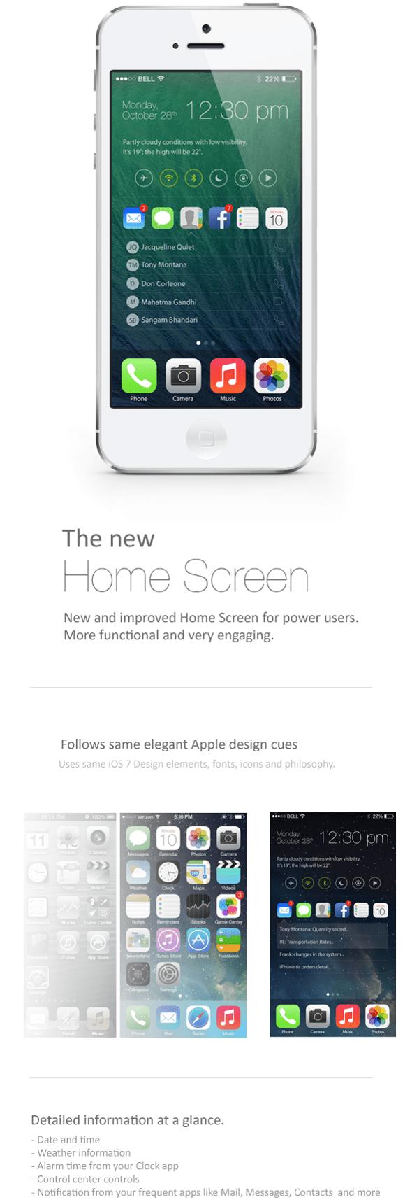 iOS 8 2014 Concept