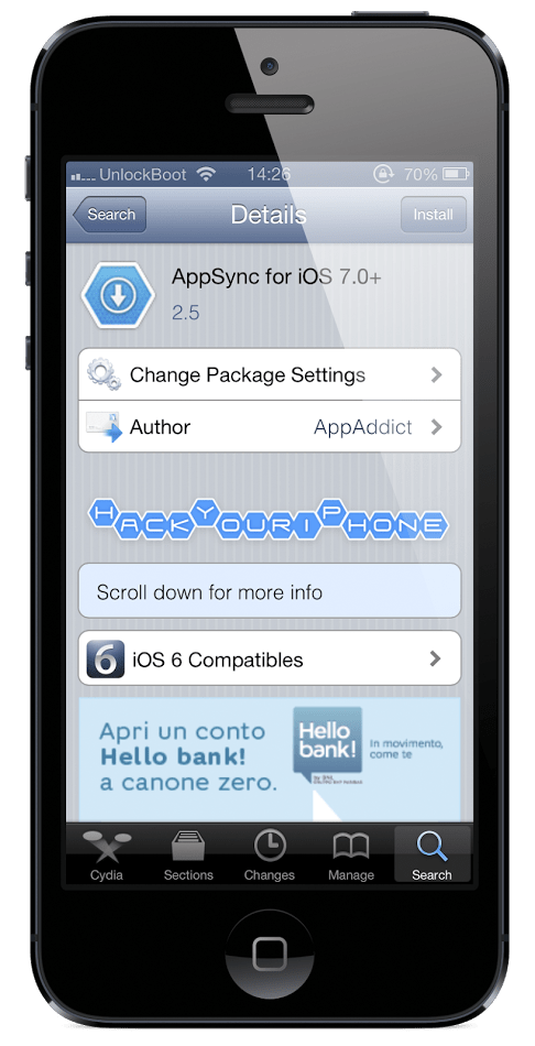 Download Appsync for iOS 7