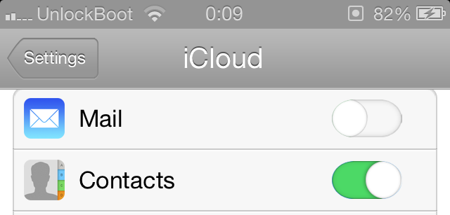 backup iphone contacts to icloud