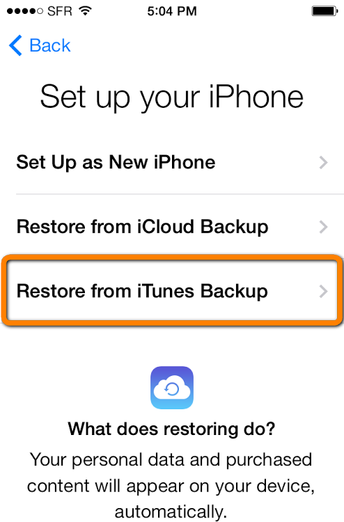 Recover Lost iPhone Contacts via iTunes