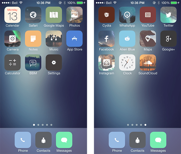 Best 10 Winterboard Themes For Ios 7 In 2014