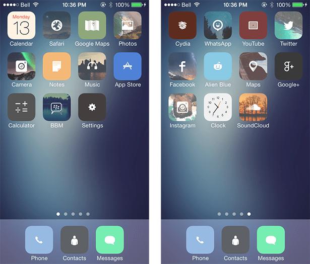 M'flat iOS 7 Theme