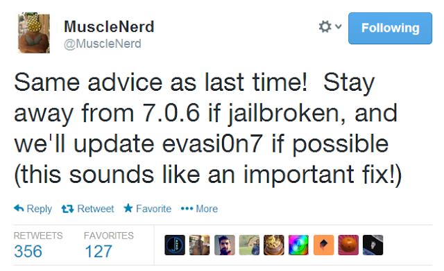 iOS 7.0.6 Jailbreak Status