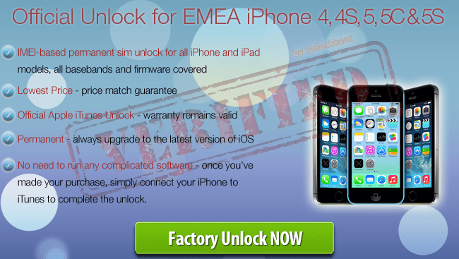 EMEA iPhone Unlock