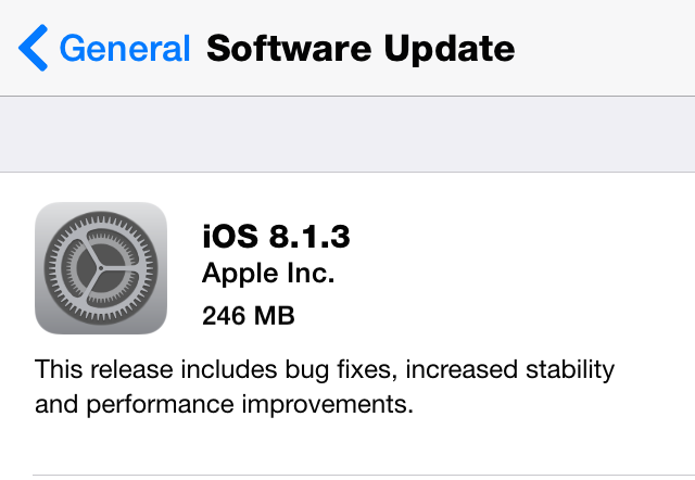 iOS 8.1.3 Download