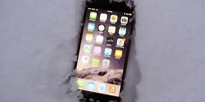 iphone 6 buried in snow