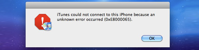 itunes connection error