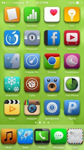 Vivis iOS 8 Theme