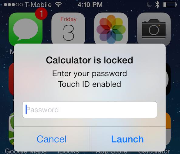 AppLocker Touch ID Tweak