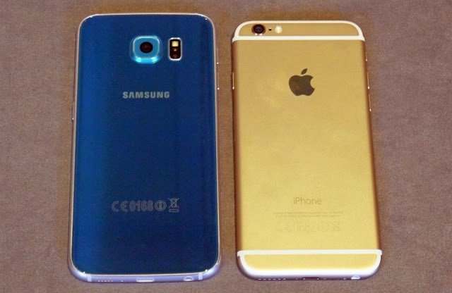 Galaxy s6 vs iPhone 6 body