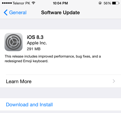 iOS 8.3 Download