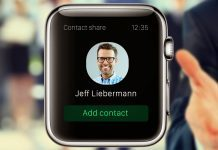 Apple Watch Add Contact