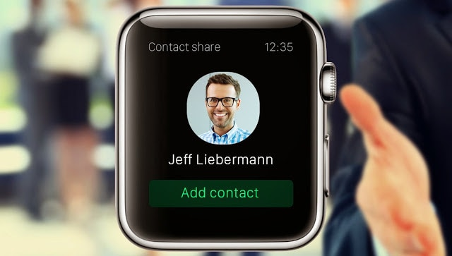 Add contact on Apple Watch