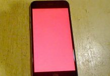 red screen iphone