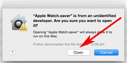 Install Apple Watch Screensaver