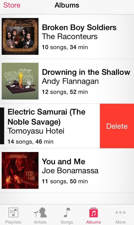 Delete Music Album iPhone