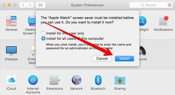 Apple Watch Screensaver on Mac