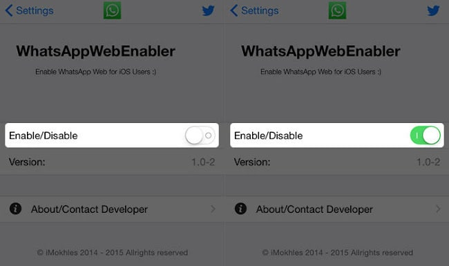 Use WhatsApp web on iPhone