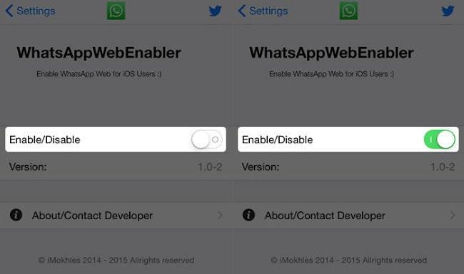 Use WhatsApp web on iPhone