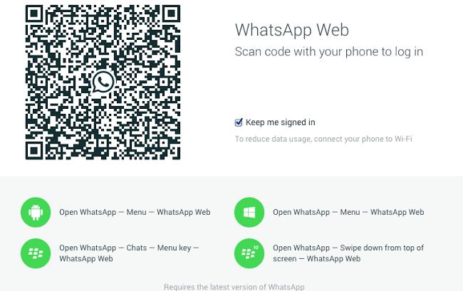 WhatsApp Web on iPhone 6