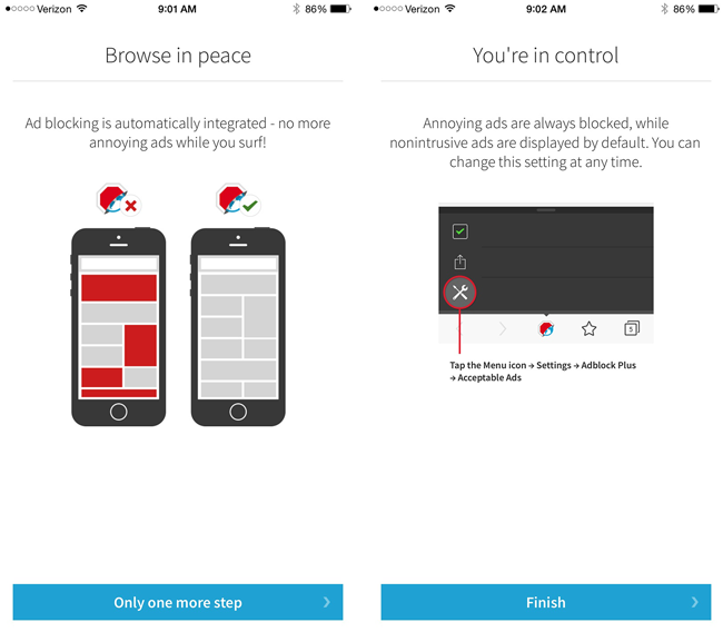 Adblock Browser for iPhone
