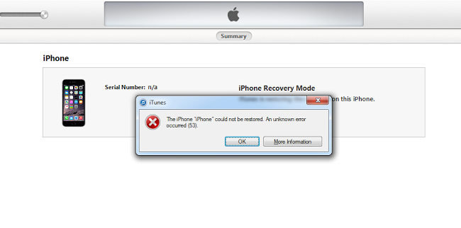 itunes error 53 iphone 6
