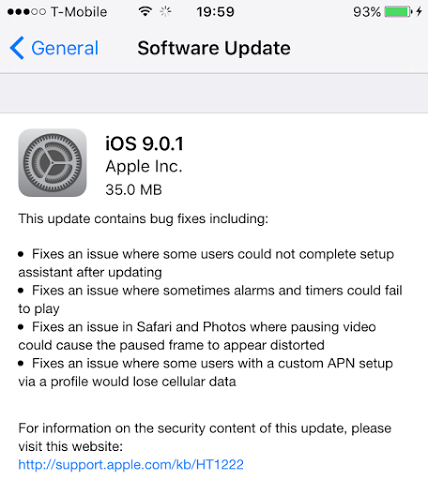 Download iOS 9.0.1 IPSW