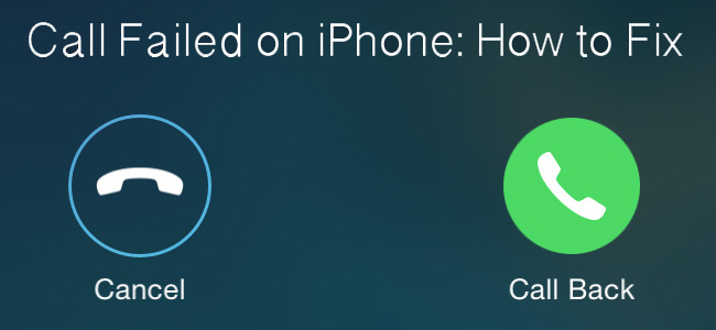 call failed on iphone