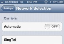 Manual network iphone