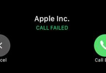 call failed iphone