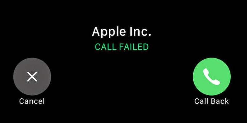call failed iphone