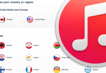 change itunes region
