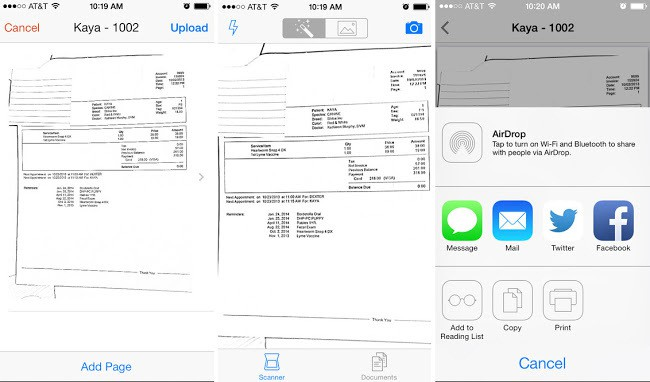 Scan Documents iPhone