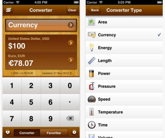 Unit Convert App iPhone