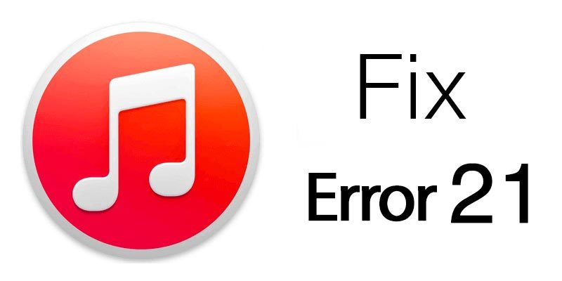 Image result for How to fix iTunes error 21