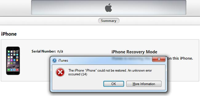 iphone error 14